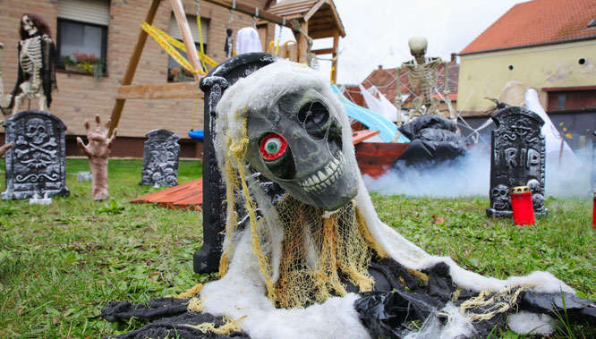 Halloween im Hohlweg in Bliesransbach.