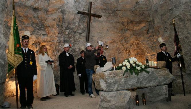 In der Kalksteingrube Auersmacher wird sogar geheiratet.