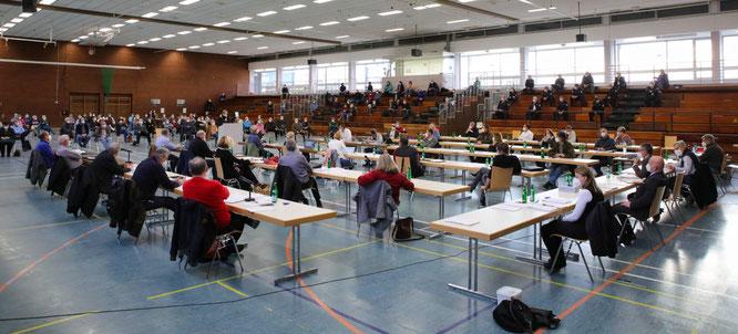 Während der Corona-Pandemie tagt der Gemeinderat von Kleinblittersdorf in erste Linie in der Kleinblittersdorfer Spiel- und Sporthalle. Am 26. August werden die Ausschüsse neu besetzt.