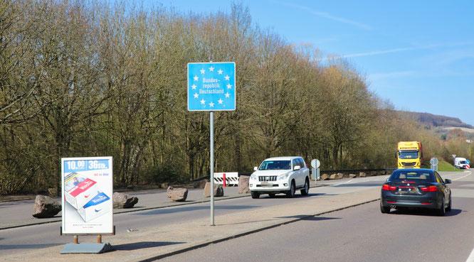Auch an der Grenze von Kleinblittersdorf nach Großblittersdorf wird nicht kontrolliert.