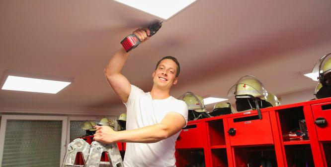 Der 30jährige Martin Debus aus Rilchingen-Hanweiler ist Feuerwehrmann aus Leidenschaft und hat bei der Renovierung des Gerätehauses angepackt wie kein Zweiter.