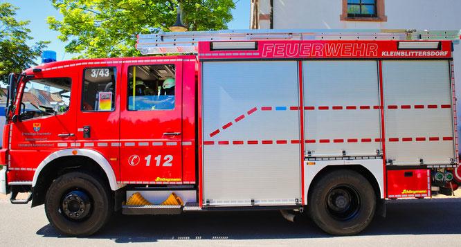 Symbolfoto: Ein Feuerwehrauto der Gemeindewehr Kleinblittersdorf.