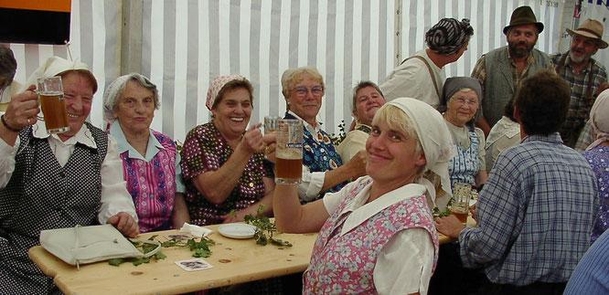 Auch die Landfrauen aus Auersmacher feierten bei den Dorffesten in Kleinblittersdorf