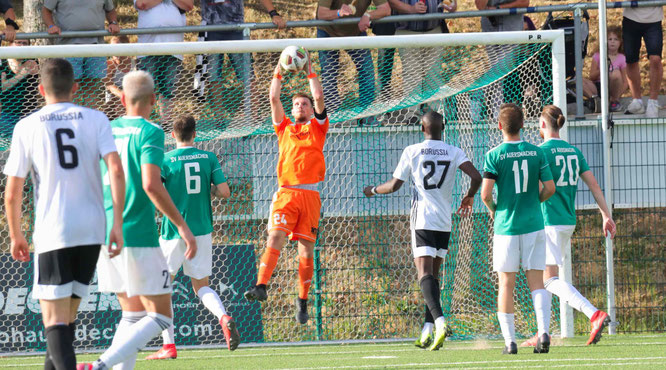 Der 21-jährige Jan Müller im SVA-Tor konnte an den beiden Gegentoren nichts machen.
