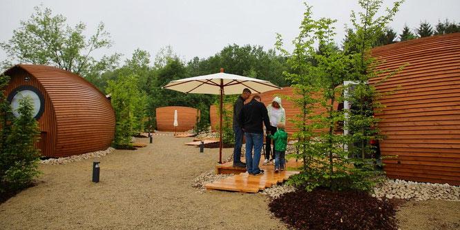 Der Weingarten im Glamping-Resort.