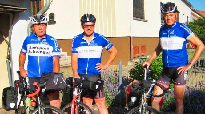 von links: Martin Schwindt (57), Heinz Grund (68) und Manfred Kempf (60).