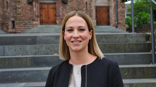Die Ortsvorsteherin von Kleinblittersdorf, Nadja Doberstein.