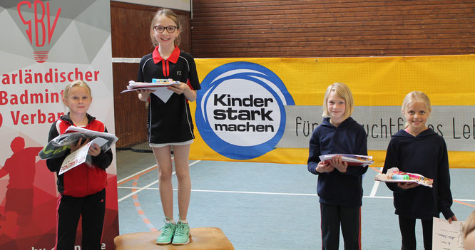 Annika Karmann gewann die 1. Saarländische U11-Rangliste im Badminton.