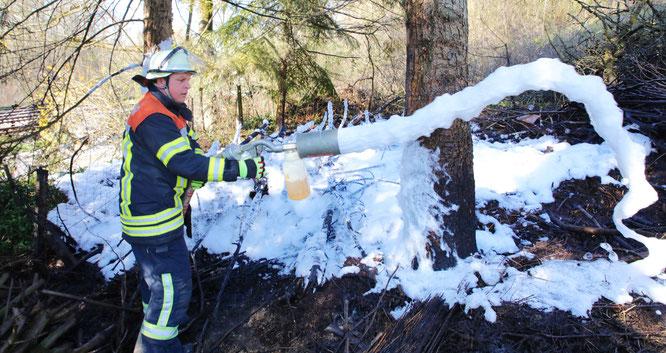 Die Feuerwehr in der Gemeinde Kleinblittersdorf musste am Dienstag einen Flächenbrand in Auersmacher löschen.