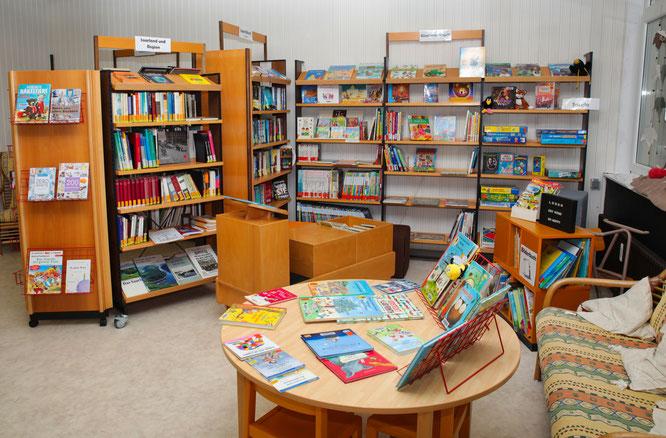 Die Kinderecke in der Bücherei in Kleinblittersdorf.
