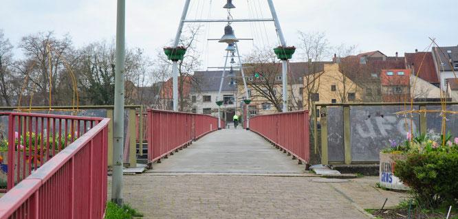 Auch an der Fußgängerbrücke in Kleinblittersdorf gibt es keine Kontrollen.