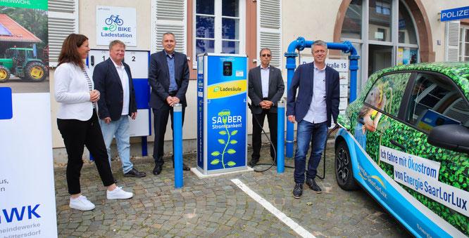 Die Ladestation für E-Autos in Kleinblittersdorf ist in Betrieb genommen worden.