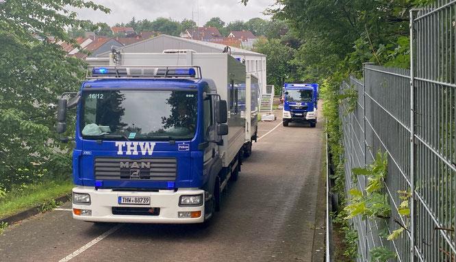 Etwa zwei Tage wird der Einsatz in Bad Neuenahr-Ahrweiler dauern.
