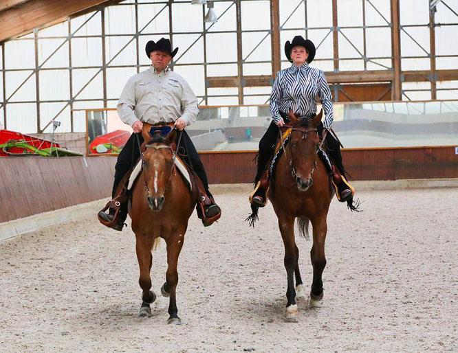 Ralf Becker und Joline Becker verbringen fast täglich Zeit mit ihren Pferden, wobei der Spaß im Vordergrund stehen muss.