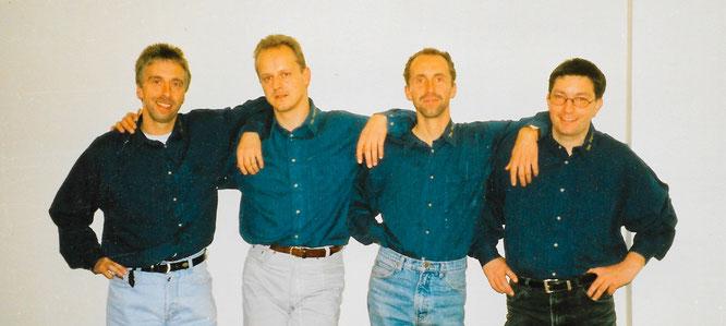 The Angels Ende der 1990er Jahre in ihrer Gründungsbesetzung: von links: Michael Trier, Christian Reith, Helmut Brandstetter und Thomas Unold.