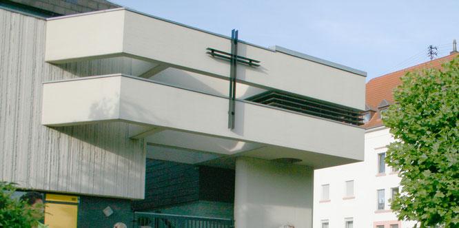 Das evangelische Gemeindezentrum in Brebach.