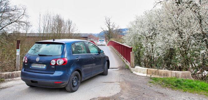 Die Brücke an der Bliesgersweiler Mühle ist der Schleichweg Nummer eins.