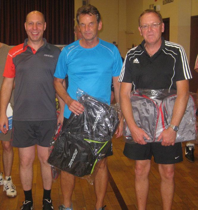 Sieger des Mannschaftsturniers 2014 Ein Dorf spielt Tischtennis  B-Team  v.l. : Michael Birster, Peter Wolf, Detlef Breier