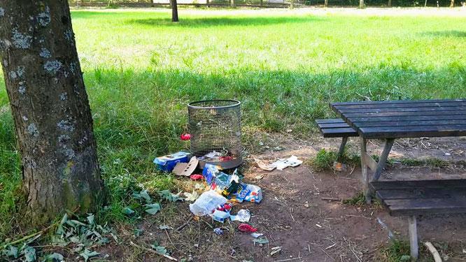 Vandalismus im Robert-Jeanrond-Bürgerpark.