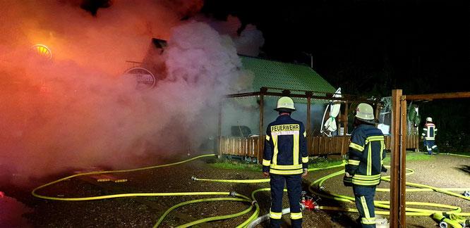 In der Nacht zu Freitag hat ein Bistro in Rilchingen-Hanweiler gebrannt.
