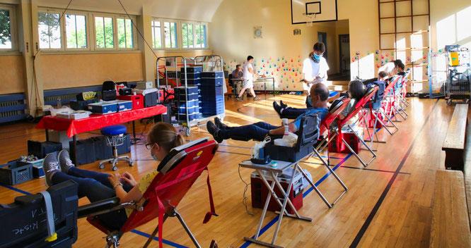 46 Menschen kamen am vergangenen Donnerstag zum Blutspenden nach Rilchingen-Hanweiler.