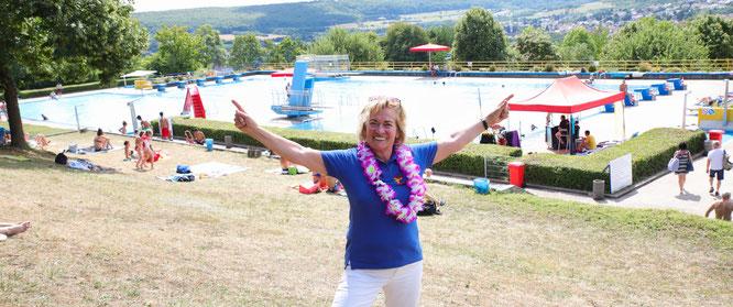 Ulrike Niederländer ist seit der Eröffnung des Kleinblittersdorfer Freibades vor 49 Jahren Stammgast. Sie ist die Vorsitzende des Fördervereins, der maßgeblichen Anteil daran hat, dass es das Bad noch gibt.