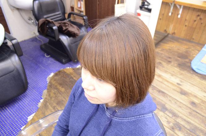 前髪パーマにはアイロンパーマ