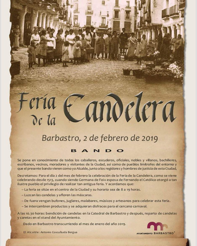Feria de la Candelera Barbastro 2019