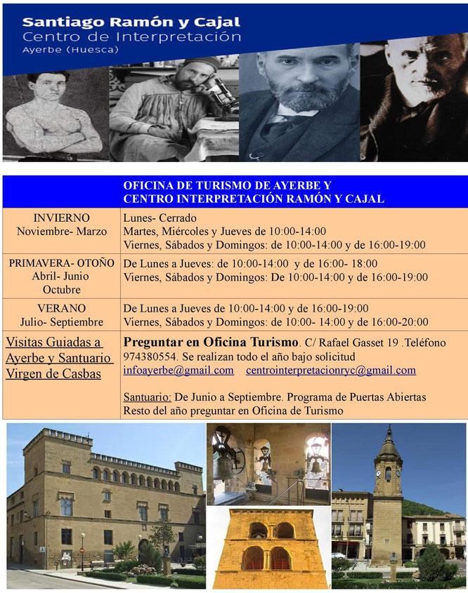 horarios centro interpretacion ramon y cajal ayerbe