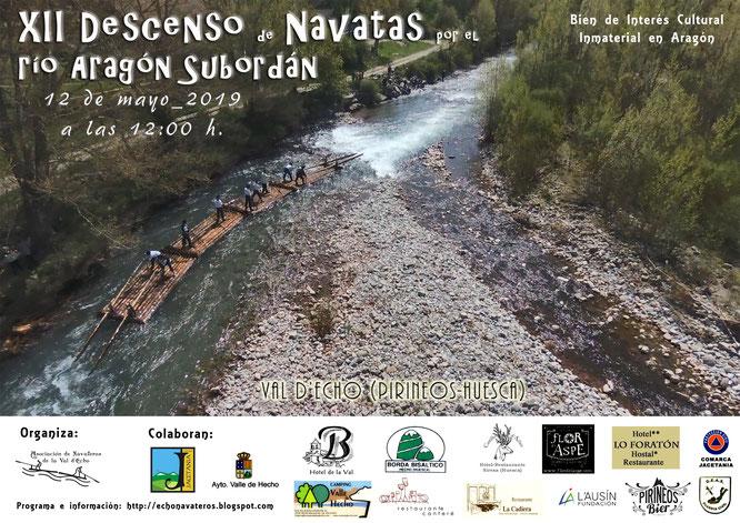 Descenso de Navatas por el río Aragón Subordán 2019