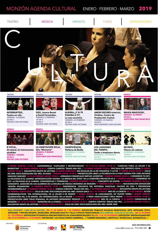 agenda cultural monzon 20118