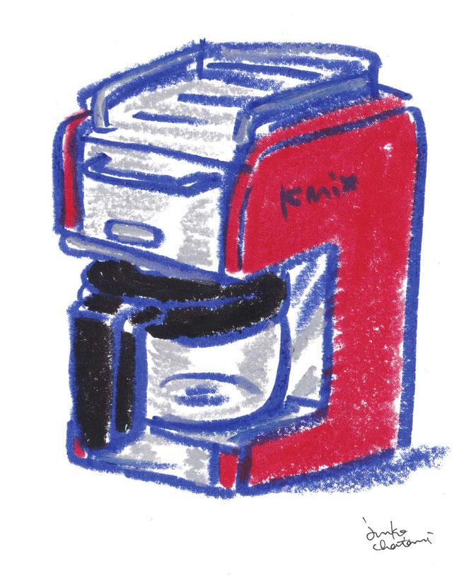 コーヒーメーカー 茶谷順子 イラスト 電動コーヒーメーカーイラスト