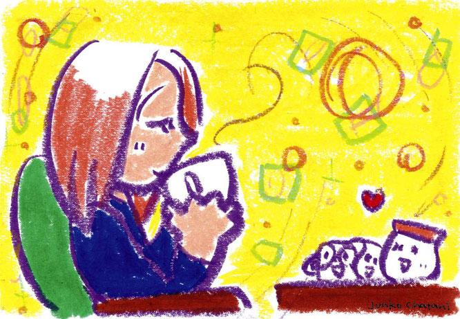 茶谷順子 イラスト コーヒーブレイクイラスト