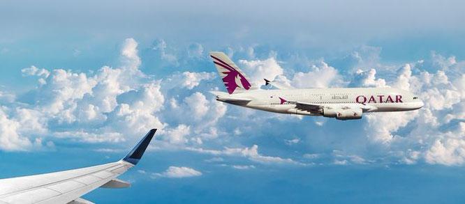 Qatar Economy Class Angebote 2020 buchen Fluege günstiger Flug Billigflug Billigflüge billige Flüge Emirates Etihad Airways Eurowings TUIfly Business first Flotte Flugvergleich Flüge vergleichen Flüge suchen Flugsuchmaschine A380