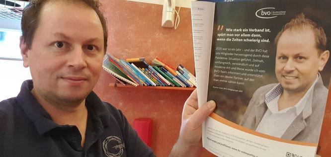Martin Kind in Zeitschrift DO aus dem Thieme-Verlag als Markenbotschafter des bvo