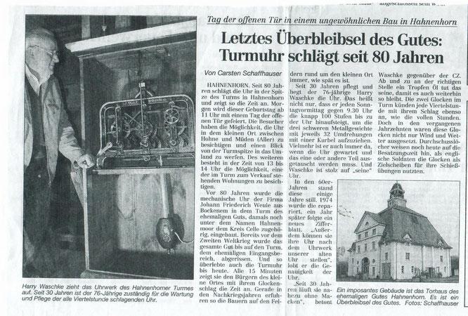 Quelle: Aller-Zeitung 2002