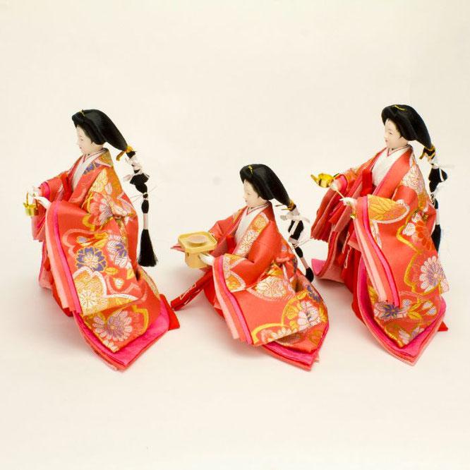 ひな人形 五人飾り 4H15-GP-002 三人官女(横)