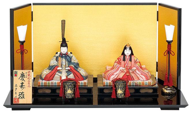 真多呂人形 親王飾り「本金 慶寿雛セット」品番:1817