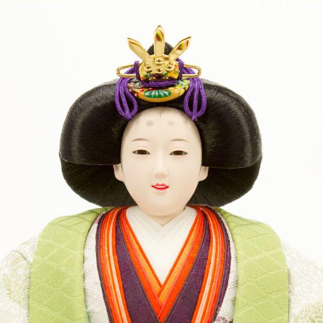 ひな人形 立雛飾り 4H13-GP-304 女雛(顔)