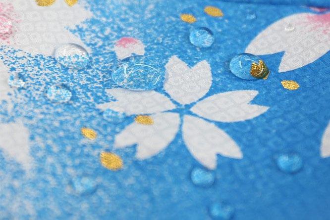 桜風吹流し 撥水イメージ