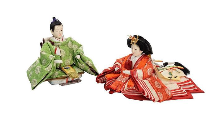 優香作ひな人形 親王揃い 亀甲地又木紋(京十三)
