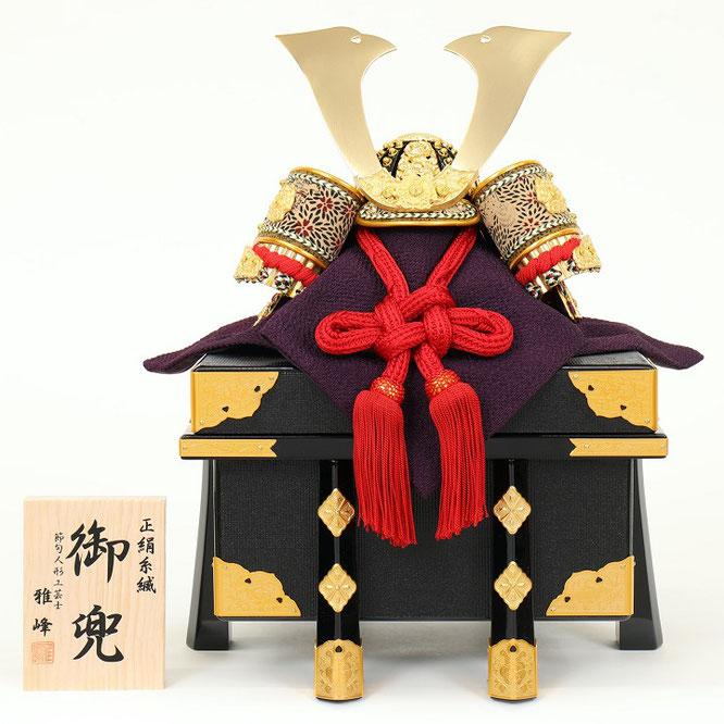 雅峰作「兜8号平飾り」品番:6F21-AA-232 兜の背面