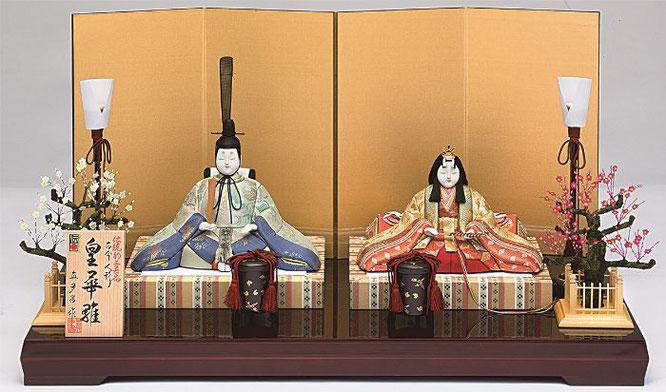 真多呂人形 親王飾り「皇華雛セット」品番:1254 伝統的工芸品