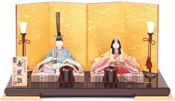 真多呂人形 親王飾り「本金 春麗雛セット」品番:1816 伝統的工芸品