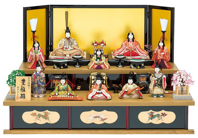 真多呂人形「豊雅雛10人飾り」品番:1313