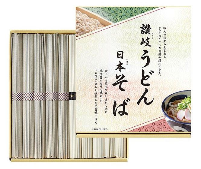 初盆用返礼品 讃岐うどん・日本そば 1,000円(税込価格1,080円)