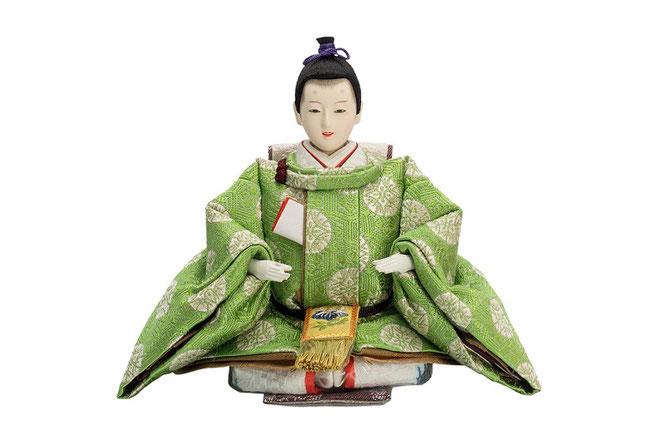 優香作ひな人形 亀甲地又木紋 男雛(京十三)