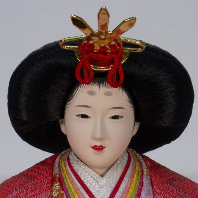 ひな人形 五人収納箱飾り 4H16-GP-016A 女雛(正面)
