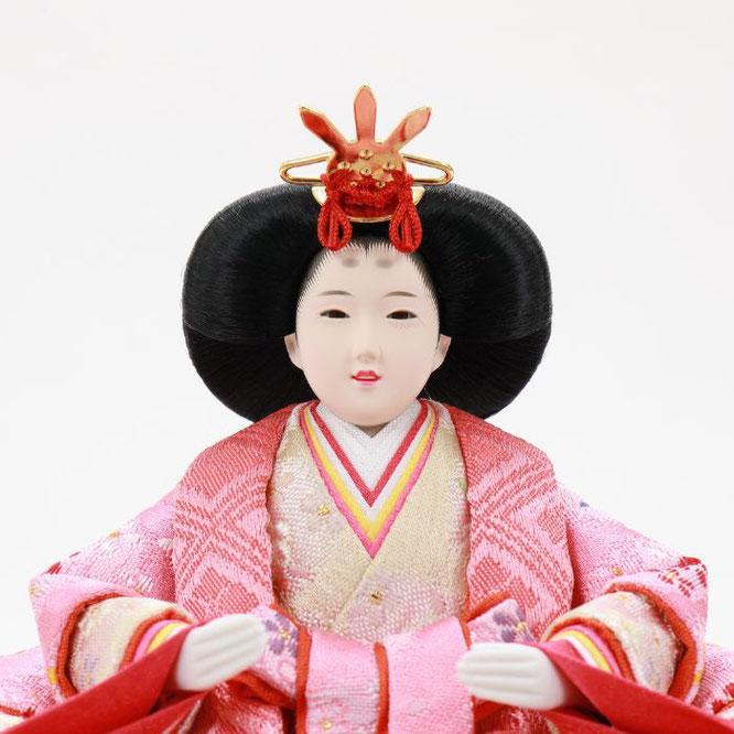 ひな人形 五人収納箱飾り 4H16-GP-023 女雛(顔)