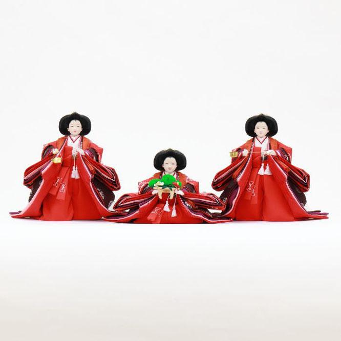 ひな人形 五人飾り 4H15-GP-005 三人官女(正面)